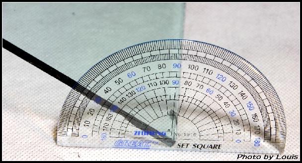4、半圆仪测下的开始打滑时的角度.-HBNature YAK305A登山鞋测评