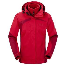 JACK WOLFSKIN(狼爪) 女款三合一冲锋衣-Serpentine Jacket Women 1100951