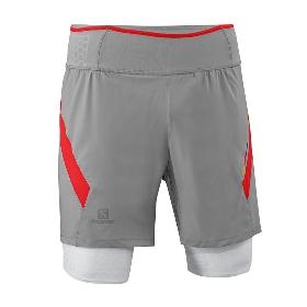 SALOMON/萨洛蒙 男款跑步半长裤-S-Lab Exo Twinskin Short M 359568