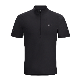 ARCTERYX/ 男款半拉链速干短袖T恤 Accelerator Zip Neck SS M 17148 【2017春夏新款】