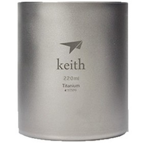 KEITH/铠斯  TI80  钛保温杯 220ml