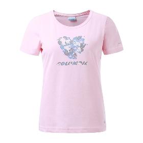 Columbia/哥伦比亚 女款舒适透气吸湿印花短袖T恤 PL2580