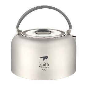 KEITH/铠斯 户外旅行便携钛茶壶烧水壶Ti3901