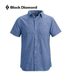 特卖  BLACK DIAMOND/黑钻  RBVH 男款现代派条纹短袖衬衫-S/S Chambray Modernist Shirt