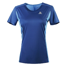 SALOMON/萨洛蒙 402159 女款跑步短袖T恤-Agile Heather Tee W