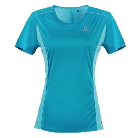 SALOMON/萨洛蒙 402158 女款跑步短袖T恤-Agile Heather Tee W
