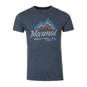 MARMOT/土拨鼠 男款户外透气棉质圆领短袖T恤 S43420