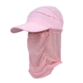 KENMONT/卡蒙 女款夏季骑车遮阳帽防晒护脖遮脸空顶棒球帽 KM-3410