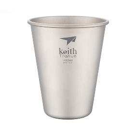 KEITH/铠斯 居家户外野营野餐健康轻量环保金属便携钛啤酒杯 TI9002