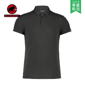 MAMMUT/猛犸象  男款户外混羊绒短袖Polo衬衫  1017-00010